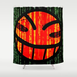 Cowboy Bebop Hacked Smile Shower Curtain