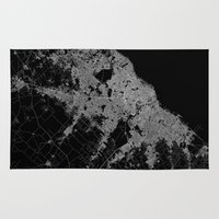 poland Area & Throw Rugs featuring Warsaw map poland by Line Line Lines