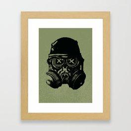 Gas mask skull Framed Art Print