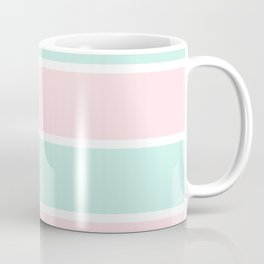 Blush pink teal modern color block pastel stripes Coffee Mug