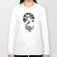 birdy Long Sleeve T-shirts featuring Birdy by Ejaculesc