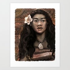 MOANA: Wahine nani Art Print