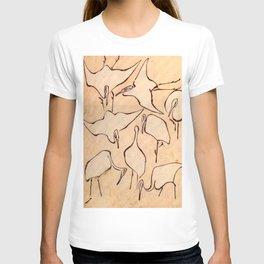 "Katsushika Hokusai ""Cranes from Quick Lessons in Simplified Drawing"" (1823)(original) T-shirt"