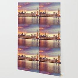 London Sunset Cityscape (Color) Wallpaper