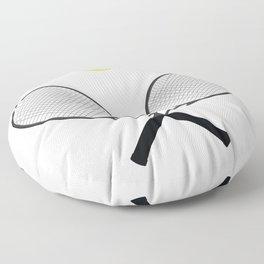 Tennis Racket And Ball 2 Floor Pillow