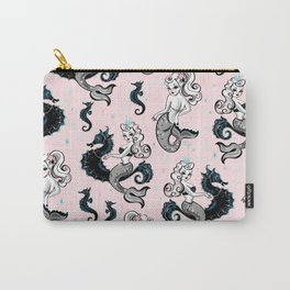 Pearla the Mermaid on Pink Carry-All Pouch