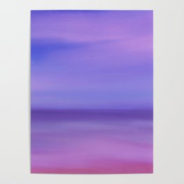 Where The Sky Meets the Ocean Poster