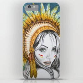 Red Indian Beauty iPhone Case