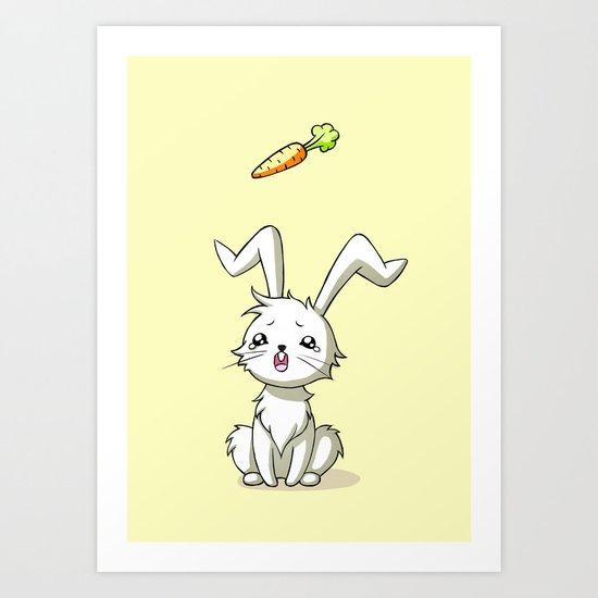 Bunny Carrot Art Print
