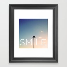 Palm tree Smile Framed Art Print