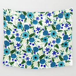 Shades of Blue Wall Tapestry
