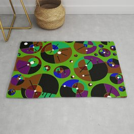 Bubble green black Rug
