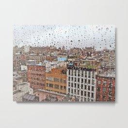 Rainy Day in Soho, NYC Metal Print