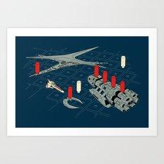 You Sunk My Battlestar Art Print