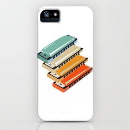 Retro harmonica gift for musicians iPhone Case