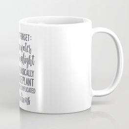 House Plant with Emotions Coffee Mug