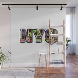 NYC (typography) Wall Mural