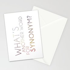 What's Another Name for Synonym?  Stationery Cards