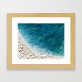 Wave Whispers (Large Encaustic) Framed Art Print