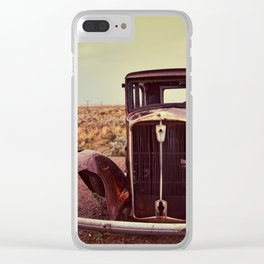 Abandoned car Clear iPhone Case