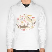 vector Hoodies featuring Oceanica by Anna Deegan