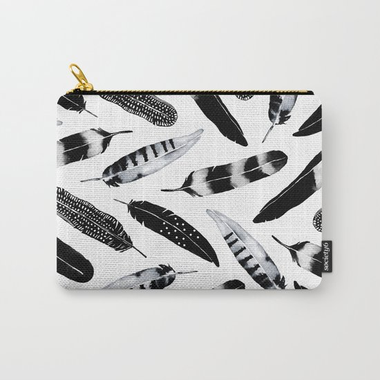 Frozen Feather Carry-All Pouch