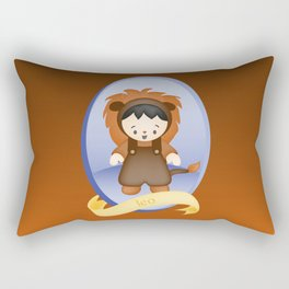 Leo Child Zodiac Sign Illustration Rectangular Pillow