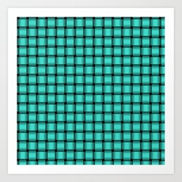 Small Turquoise Weave Art Print