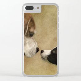 Nose To Nose Dogs Clear iPhone Case