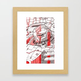 Red Mecha Framed Art Print