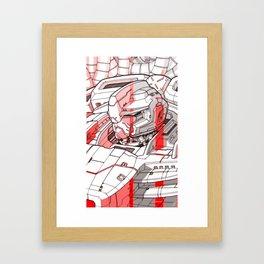 Red Mecha Framed Art Print