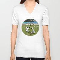 happy birthday V-neck T-shirts featuring Happy Birthday by CrismanArt