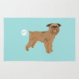 Brussels Griffon dog breed funny dog fart Rug