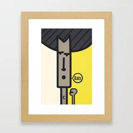 BLACK! Framed Art Print