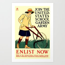 Join the US School Garden Army Art Print