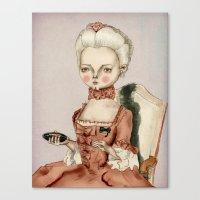 marie antoinette Canvas Prints featuring Marie Antoinette by Maripili