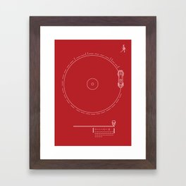 Voyager Golden Record Fig. 1 (Red) Framed Art Print