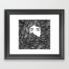 Flowing hair Framed Art Print