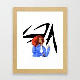 Sza Framed Art Print