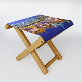 Vancouver Marina at Night Folding Stool