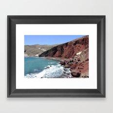 Red Beach Framed Art Print