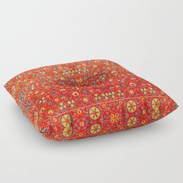 Boho Orange Oriental Traditional Moroccan Style Illustration  Floor Pillow