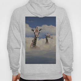 Heads above the Clouds with 3 Giraffes Hoody