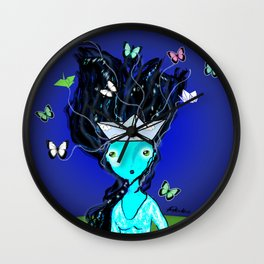 Locura de Mariposas Wall Clock