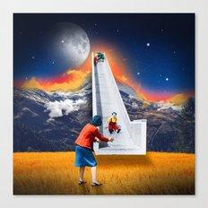 Let It Slide Canvas Print