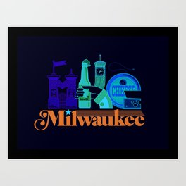 MKE ~ Milwaukee, WI Art Print