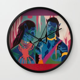Jake and Neytiri Wall Clock