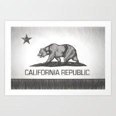 California Republic state flag Art Print