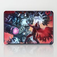 magneto iPad Cases featuring Magneto vs Megatron by Larrydraws