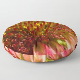 Cone flower colors Floor Pillow